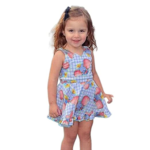 6d2341e0b7ae Girls Dresses Yamally Baby Kids Cartoon Cotton Dress Sleeveless Summer  Dress Casual Dress for Toddler ...