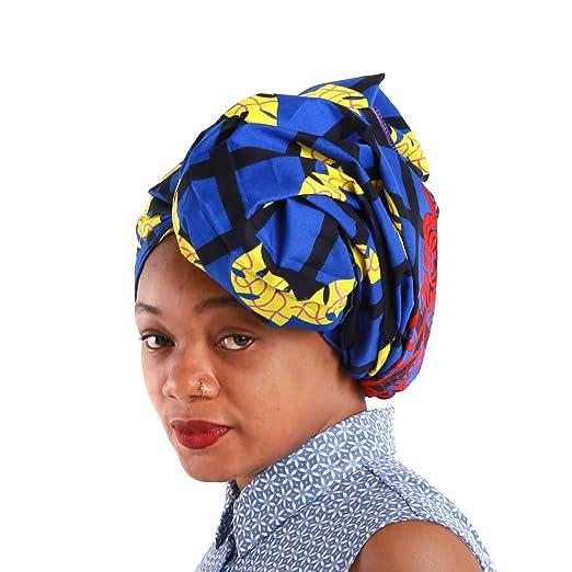 """NewJourney African Head Wrap for Women Print African Scarf Headwrap Headscarf Head Tie Multicolor 22"""""""