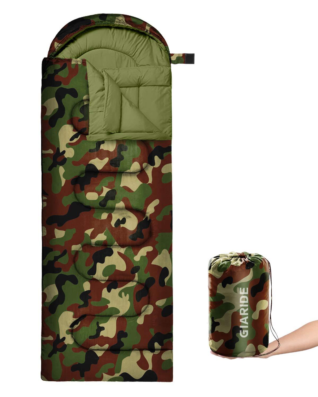 Acampar Al Aire Libre Caminar GIARIDE Saco De Dormir para Acampar 3 Estaciones Clima C/álido Y Fresco Ligero Port/átil Saco De Dormir Impermeable para Adultos Ni/ños Equipo De Campamento para Viajar