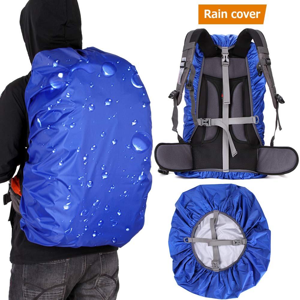 Loowoko 100%防水バックパック レインカバー 滑り止め クロスバックルストラップ&防雨収納ポーチ ハイキング キャンプ 旅行 サイクリング アウトドア活動用 (25~90L) B07P5CH7H4 Rolay blue 45L(fits 35-50L)