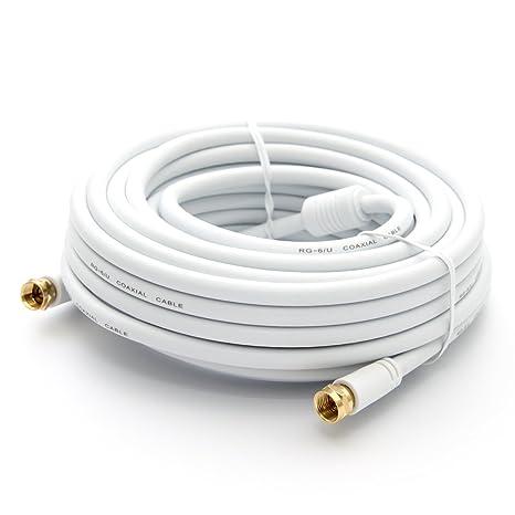 PremiumX 15m HDTV Sat Antennenkabel Koax Kabel vergoldet 75 Ohm Koaxialkabel für Sat-Anlage DVB-S DVB-S2 DVB-T DVB-T2 mit Man