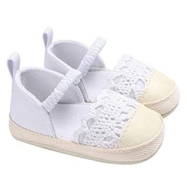 6e3195e85970a Amazon.com: Moonper Kids Soft Sole Newborn Sneakers Toddler First ...