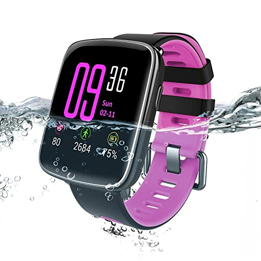 Makibes GV68 Waterproof IP68 deportes Bluetooth Smart Watch MTK2502 Mensaje Call Reminder cámara remota para IOS / Android púrpura