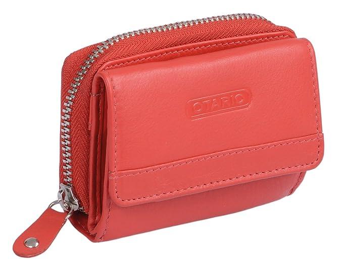 Amazon.com: AVANCO Piel de la mujer mini-wallet 3.5 x 2.6 ...