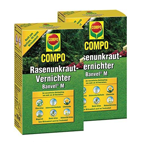 Compo Rasenunkrautfrei Banvel M 2 x 240 ml für 2 x 400 m²