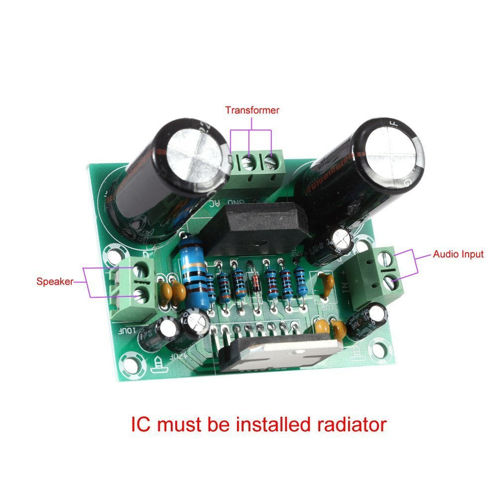 Wingoneer Tda7293 Mono Single Channel Digital Audio Integrated Circuit Ne5532 Dual Opamp Ce Distribution Power Amplifier Board Ac 12 32v 100w Electronics