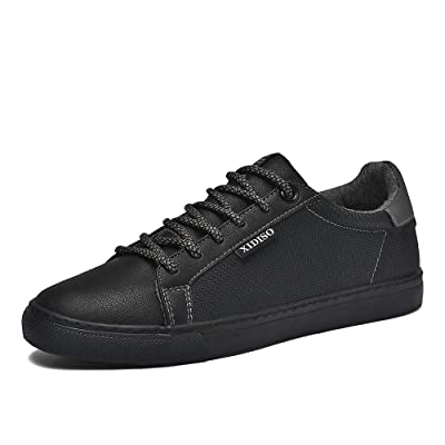 XIDISO Mens Skate Shoes Casual Sneakers for Men Lace Up Walking Shoe | Skateboarding