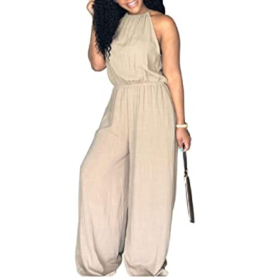5bd01abd734a4 We V Womens Plus Size Western Spaghetti Strap Hot Sale Halter Siamese  Trousers  Amazon.in  Clothing   Accessories