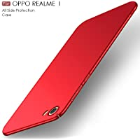 """Original Premium REALME 1 Back Cover - WOW Imagine All Angle Protection """"360 Degree"""" Ultra-Slim Fit [ Non-Slip ] [ Anti-Scratch Resistant ] Shell Lightweight Rubberised Matte Hard Case Back Cover For OPPO REAL ME REALME 1 - Maroon Wine Red"""