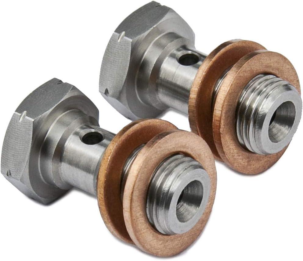 Bremssattel Hohlschraube M10 x 1.00mm Edelstahl Hauptzylinder L = 18mm 2 St/ück