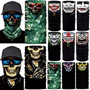10pcs. Breathable Multifunctional Assorted Designs Bandana Dust Windproof Motorcycle Bicycle Bike Face Mask fo