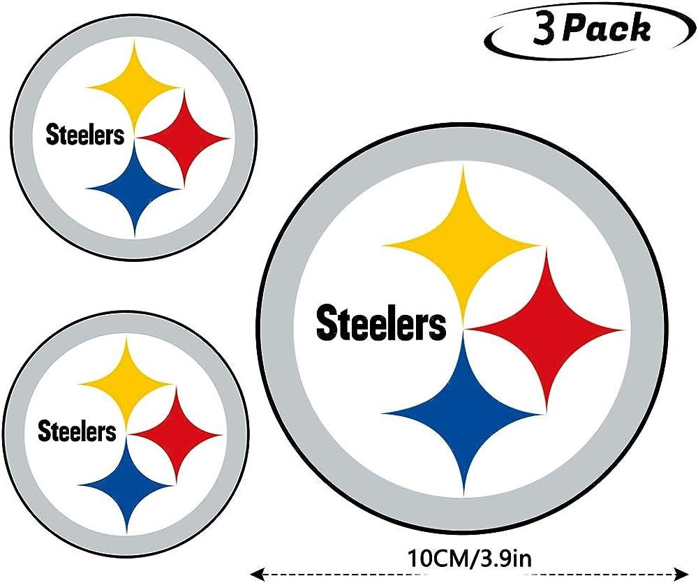 3pcs Football Team Logo Metal Emblem Decal,for Car Decal, Hemlet, Laptop, Door,Tumblers,and Wherever You Want to Show