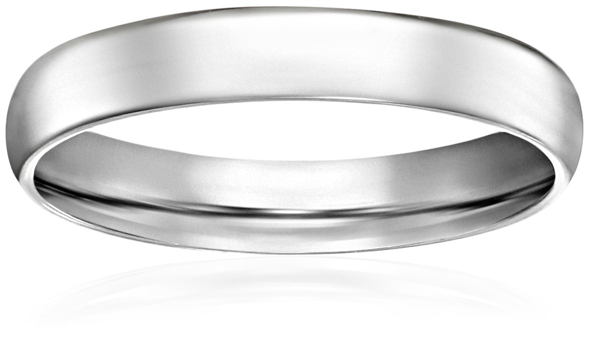 Light Comfort-Fit 14K White Gold Band, 3mm, Size 7