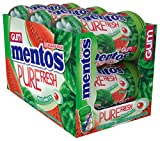 Mentos Pure Fresh Sugar-Free Chewing Gum with Xylitol, Watermelon, Halloween Candy, Bulk, 50 Count, Pack of 6
