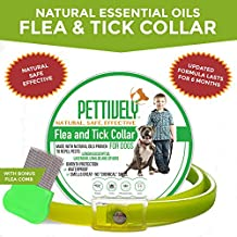 -New for 2018! Effective Safe Flea and Tick Prevention for Dogs. Natural Collar Made with Botanical Essential Oils proven to repel pests for up to 6 months! Lavendar Blend. Bonus Flea Comb for checkup