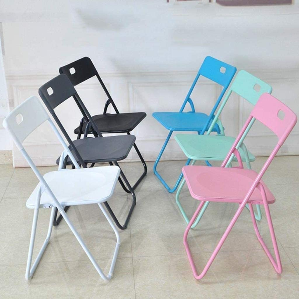 Zfggd Folding Chairs Folding Padded Office Reception Desk Chairs Foldable Chair Easy Storage (Color : Light Gray 81 * 43 * 46cm) White 79*46*45cm
