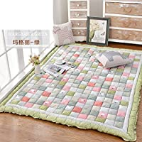 Korean carpet thicken,[short plush], non-slipping blanket bed table crawling mat tatami mattress-D 150200cm(59x79inch)