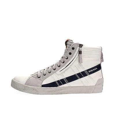 DIESEL - Baskets Basses - Homme - Sneakers Montantes Pr D String Plus Blanc  et Bleu f168840bb7b5