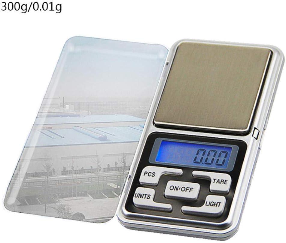 MLTYQ Bilancia Tascabile Digitale 0,01/0,1 G Mini bilance digitali Precisione Grammi elettronici Bilancia Bilancia da tè Bilancia da Forno 500 G / 1/2 / 3Kg-200G-0,01G 300g-0.01g