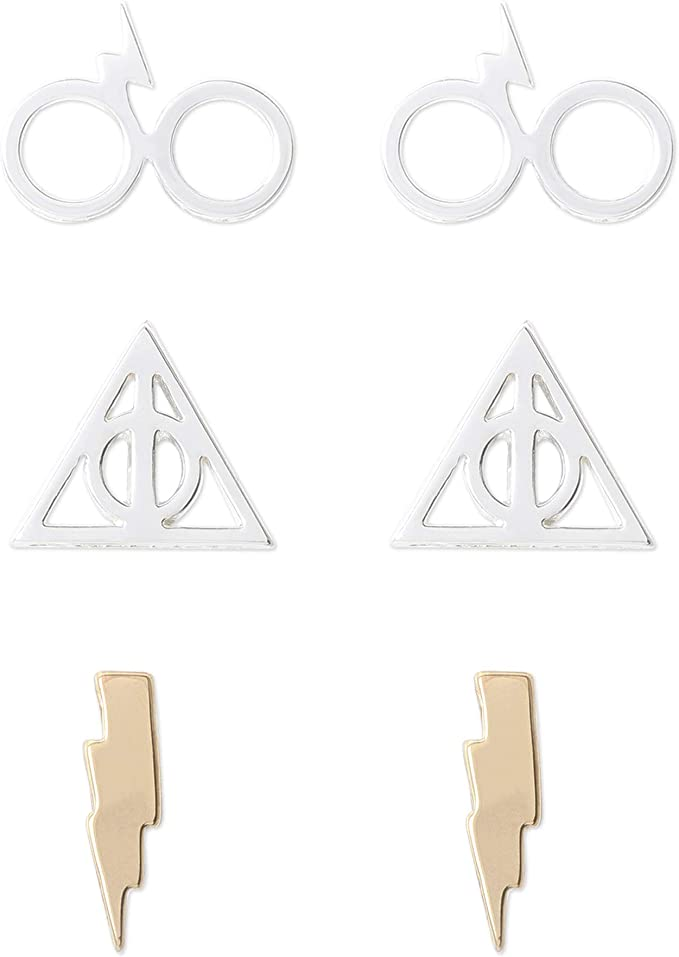 Harry Potter Earrings And Necklace Gift Set Tin