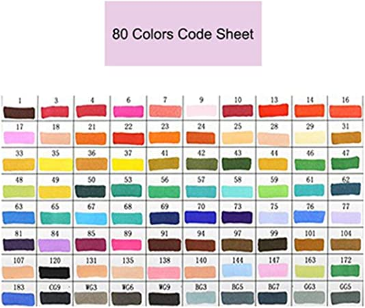 Markers 48//80//168 Color Sketch Art Marker Pen Double Tips Alcoholic For School