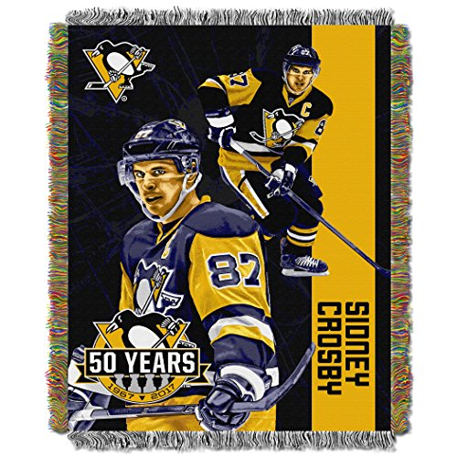 Sidney Crosby - Penguins OFFICIAL National Hockey League, Players 48 x 60 Woven Tapestry Throw by Northwest Official