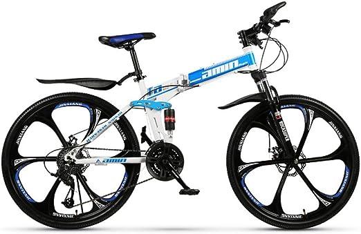 LISI Bicicleta de montaña 26 Pulgadas Todoterreno ATV Velocidad de 30 Motos de Nieve Bicicleta de montaña 4.0 neumático Grande Rueda Ancha 6 Ruedas Cuchillo,Blue: Amazon.es: Hogar