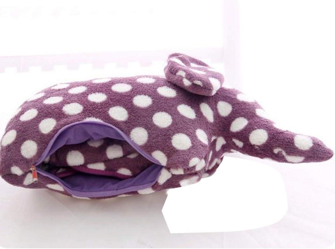 Purple,37x63 Sofa Travel Use Couch Vonty Kids Elephant Throw Blanket Flannel Fleece Blankets for Nap