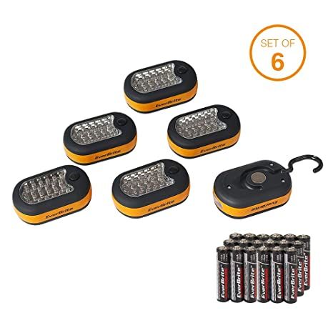 Magnetic Light Everbrite 6 With 27 Batteries Included Hanging Pack Work Led Hook Compact PiXZuk