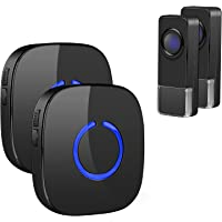 Wireless Doorbell, Remote Door Bell Ringer Wireless Long Range 300M with 58 Melodies, Coolqiya Portable Doorbell with 2…