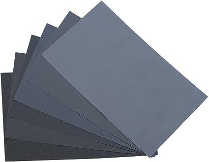 "9/""x11/"" Grit 1200A Silicon Carbide Wet Or Dry Sandpaper Sheet 10 pcs"