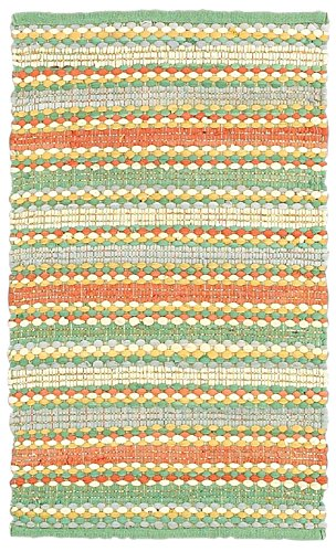 (LR Resources Cotton Dhurry, 8-Feet x 10-Feet, Jade Multi )