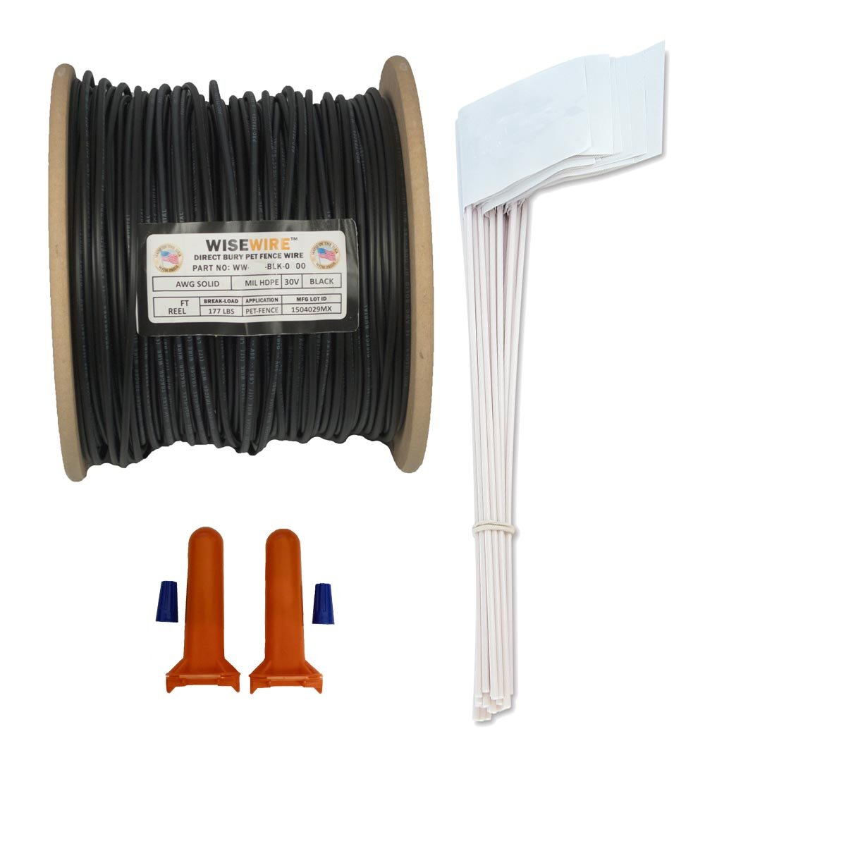 Wisewire Boundary Wire Kit WW-K-P/18 Gauge/500' / 50 Flags