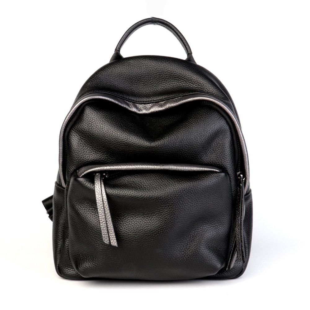 バックパックハンドバッグ本物のレザーファッションワイルドショッピングスクールバッグハンドバッグブラック30 * 16 * 23センチメートル B07GBL7R98