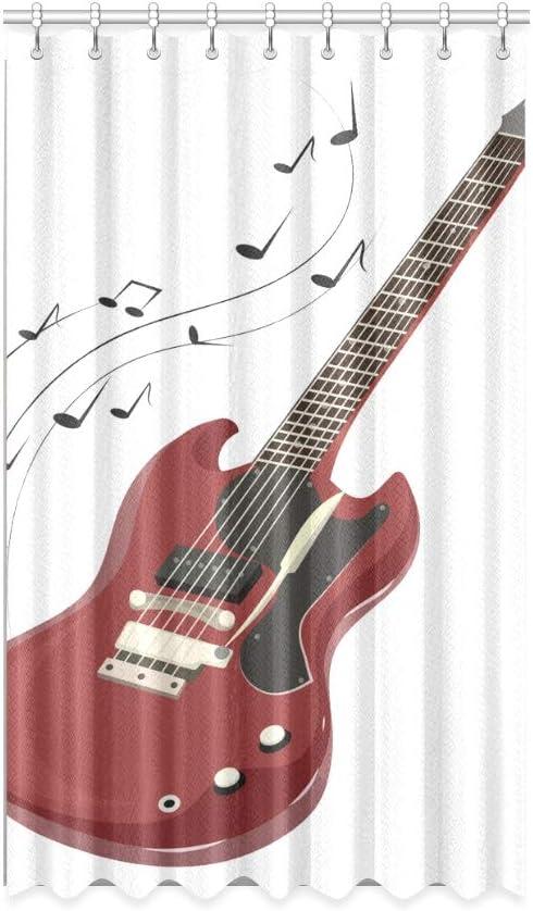 N\A Cortinas de Ventana con Bloqueador Solar Instrumento Musical Popular Guitarra Cortinas de Ventana para niños 50 X 84 Pulgadas de una Pieza para Puerta corrediza de Vidrio para Patio/Dormitorio