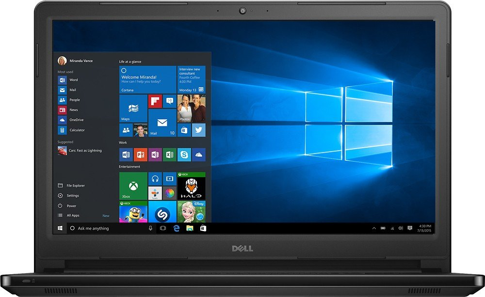 Dell Inspiron 15 5000 5566 - 15.6'' HD Touch - Core i3-7100U - 6GB Ram - 1TB HDD