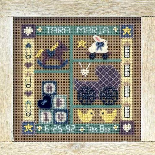 Baby Sampler Beaded Counted Cross Stitch Kit Mill Hill MHCB120 Buttons & Beads 1998 Everyday Series
