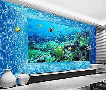 Yosot 3D Tapete Wohnzimmer Marine Welt Kreatur Coral Aquarium Wandmalerei  Fotografie Hintergrund Moderne Große Wandbild Home