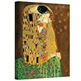 The Art Wall The Kiss Gallery Wrapped Canvas Art by Gustav Klimt