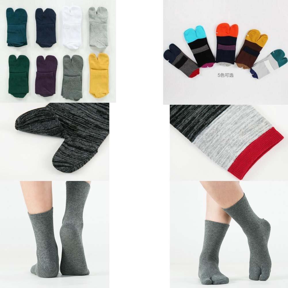 Black Temptation Zehensocken im japanischen Stil Simple /& Thin Zwei-Zehen-Socken B2