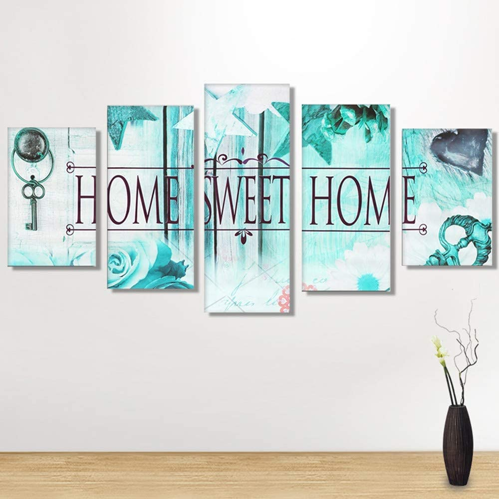 95 X 45cm//37.4 X 17.72 5-Pictures Sweet Home Combination Craft Cross Stitch Kits Set for Home Decor Gift Butterfly Wenini Diamond Painting❤️5D DIY Full Drill Diamond Painting