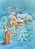 Toland Home Garden Snowy Nativity 28 x 40 Inch Decorative Winter Christmas Religious Shepherd Faith...