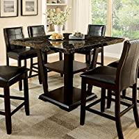 247SHOPATHOME IDF-3933PT-7PC Dining-Room, 7-piece Set, Dark Cherry