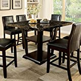 247SHOPATHOME IDF-3933PT-9PC Dining-Room-Sets, 9-Piece, Dark Cherry For Sale
