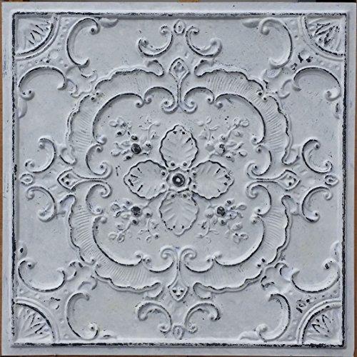 Ceiling tile faux tin painted Peeling black white cafe decor ceiling panels PL19 pack of 10pcs