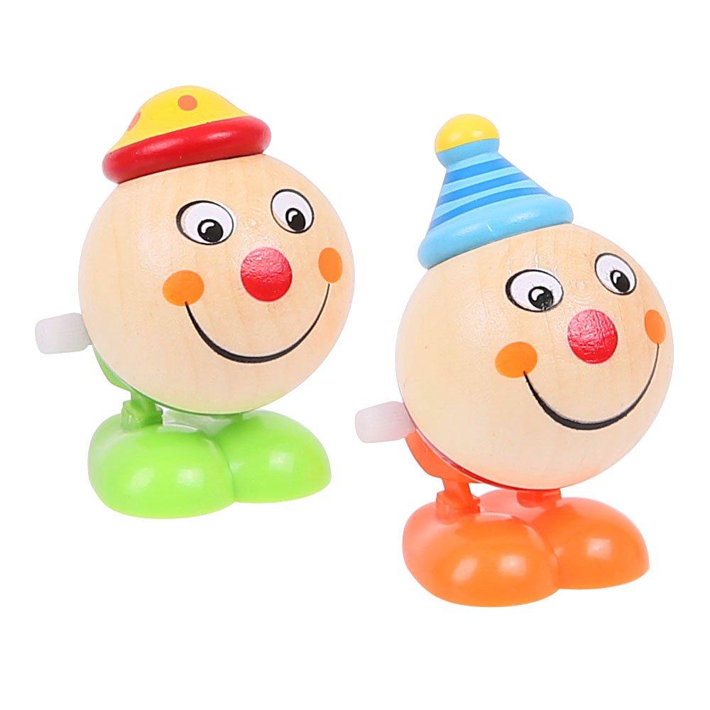 Bigjigs Toys Teste di Clown Che saltano (Confezione da 2 - Un Piede Giallo e Uno Blu)