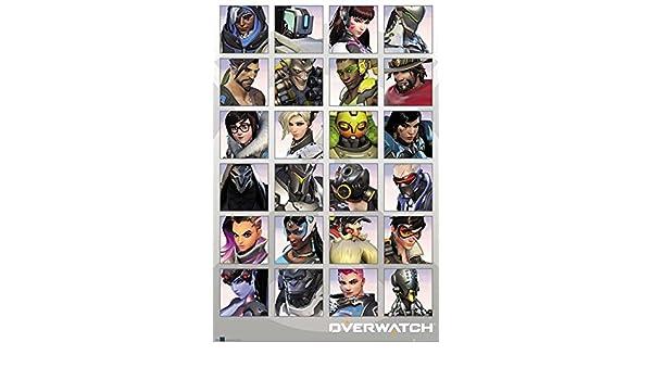 Overwatch Póster Character Portraits/Portaretratos (61cm x 91,5cm) + Embalaje para Regalo: Amazon.es: Hogar
