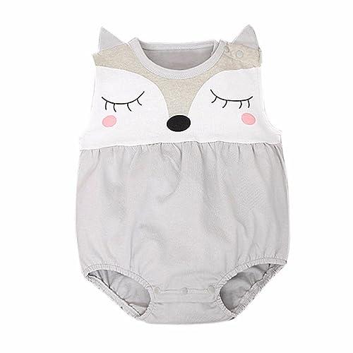 Mono Bebé, Amlaiworld Niños Niñas Recién nacido del bebé de Zorro Mono Trajes 0-24 Mes