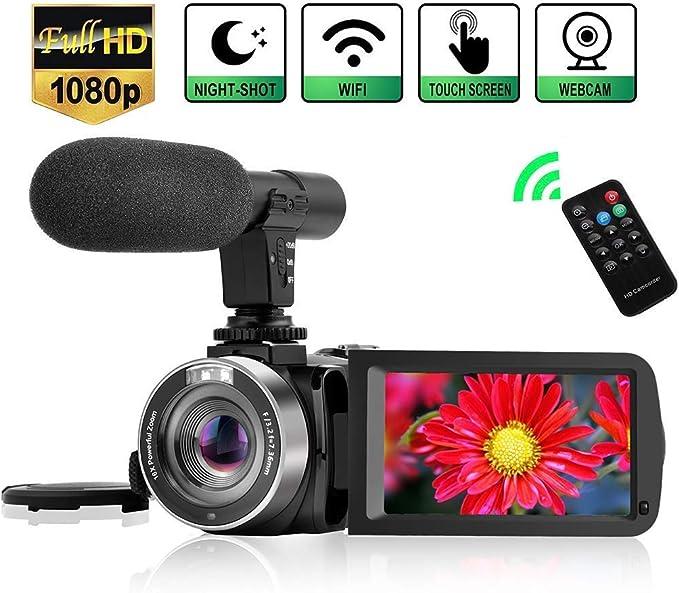21 opinioni per Videocamera WiFi Vlog Videocamere portatile con Microfono Visione Notturna a
