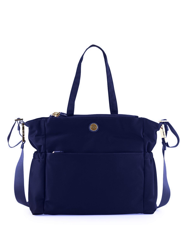 8437f5d3c80b Amazon.com   Tory Burch Travel Nylon Black Diaper Bag (Cabernet) (Navy)    Baby
